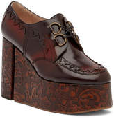 Vivienne Westwood Tooled Leather Platform Oxford
