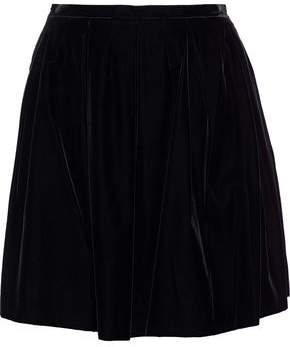 Giorgio Armani Pleated Velvet Mini Skirt