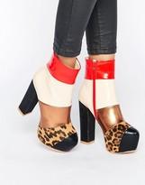Daisy Street Multi Mega Platform Ankle Boots