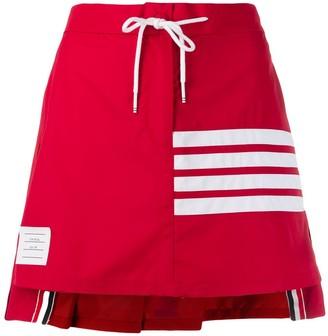 Thom Browne Pleated Back Drawstring Waist Skirt