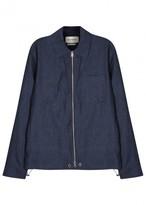Oliver Spencer Dover Dark Blue Linen Jacket