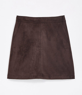 LOFT Tall Faux Suede Shift Skirt