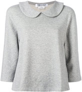 Comme des Garcons wide-collar sweatshirt - women - Cotton - S