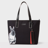 Paul Smith Women's Black 'Lucky Rabbit' Print Canvas Tote Bag