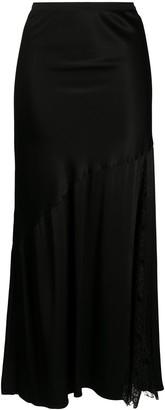 Gold Hawk Asymmetric Lace Panel Skirt