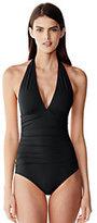 modern Women's Halter One Piece Swimsuit-Zesty Orange