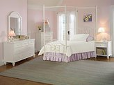 Hillsdale Westfield Canopy Bed, Twin, Rails, Nightstand, Dresser, Mirror, and Chest