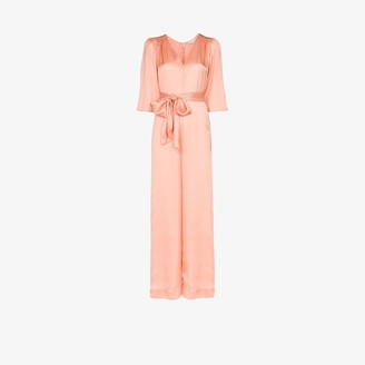 By Ti Mo Tie Waist Jumpsuit