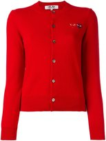 Comme des Garcons logo print cardigan - women - Wool - M