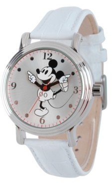 EWatchFactory Disney Mickey Mouse Women's Shiny Silver Vintage Alloy Watch