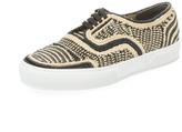 Robert Clergerie Teba Woven Low Top Sneaker