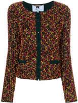 Blumarine collarless bouclé jacket