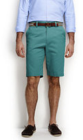 "Lands' End Men's Traditional Fit 11"" Plain Front Comfort Waist Casual Chino Shorts-Sisal"