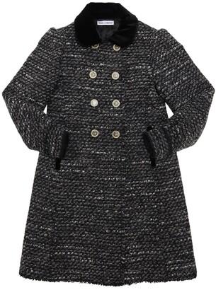 Dolce & Gabbana Acrylic & Cotton Blend Boucle Coat
