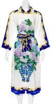 Dolce & Gabbana 2017 Hydrangea Print Shirt Dress