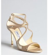 Jimmy Choo clay patent leather 'Ivette' strappy sandals
