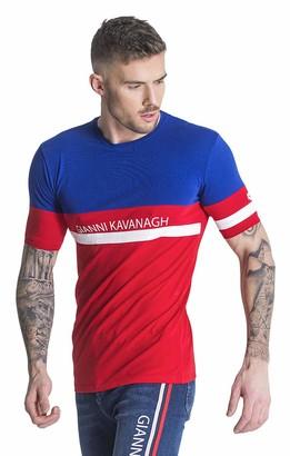 Gianni Kavanagh Men's Red Asymmetric Tee Undershirt L