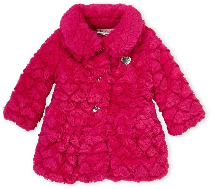 20b6b1a6cd Infant Girls) Hot Pink Faux Fur Jacket