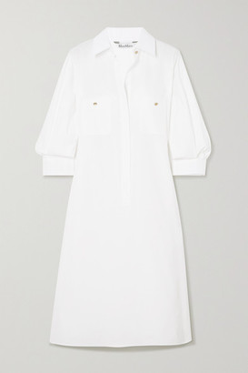 Max Mara Vibo Cotton Shirt Dress - White