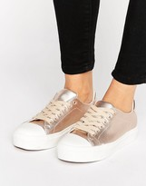 Blink Soft Toecap Lace Up Metallic Sneaker