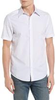 Ben Sherman Men's Polka Dot Modern Fit Short Sleeve Shirt