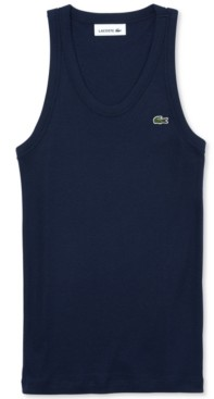 Lacoste Cotton Ribbed Tank Top