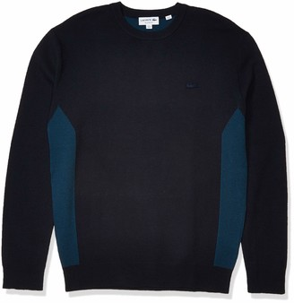 Lacoste Men's Motion Long Sleeve Regular Fit Colorblock Stitched Sweater