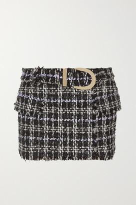 Balmain Belted Boucle-tweed Mini Skirt