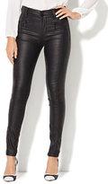 New York & Co. Soho Jeans - Zip-Accent Coated Legging - Black