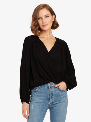 Free People Check on It Pleated Wrap Top