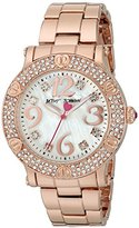 Betsey Johnson Women's Quartz Metal and Alloy Automatic Watch, Color:Rose Gold-Toned (Model: BJ00229-05)