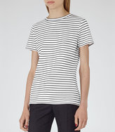 Reiss Toulouse STRIPED JERSEY T-SHIRT