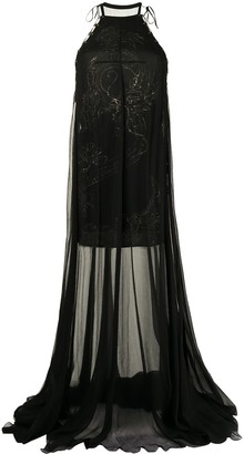 Emilio Pucci Pre-Owned Floral Pattern Sheer Gown