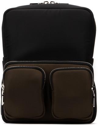 Prada Logo Zip Pocketed Backpack