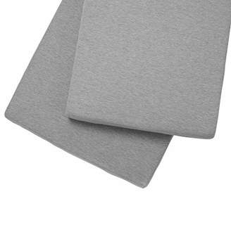 Clair De Lune 2 Pack Fitted Cot Sheets - Grey Marl