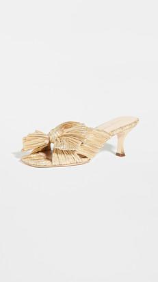 Loeffler Randall Eugenia Pleated Knot Square Toe Slides