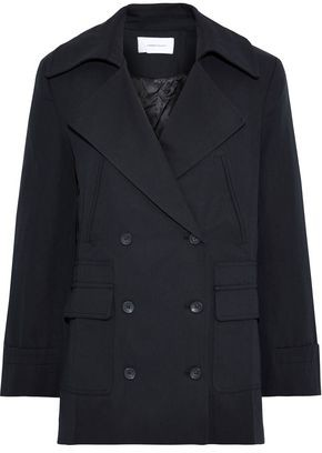 Current/Elliott The Captain Double-breasted Cotton And Wool-blend Twill Jacket