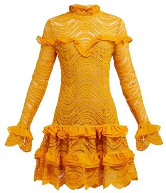 Jonathan Simkhai Ruffled Floral-lace Mini Dress - Yellow