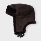 Paul Smith Men's Brown Sheepskin Trapper Hat