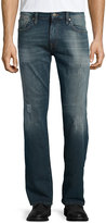 Mavi Jeans Zach Straight-Leg Distressed Jeans, Blue