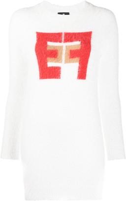 Elisabetta Franchi Intarsia Knit Dress