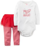 Carter's 2-Pc. Merry & Bright Bodysuit & Tutu Leggings Set, Baby Girls (0-24 months)