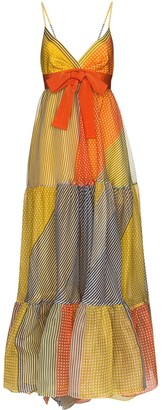 Silvia Tcherassi Tomasa patchwork maxi dress