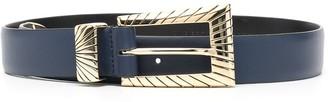 Alberta Ferretti Engraved Leather Belt