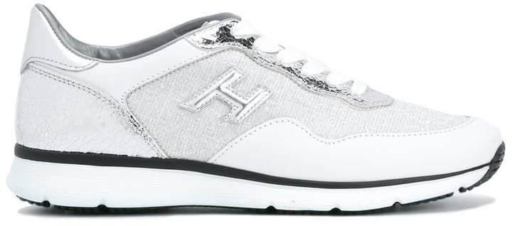 Hogan metallic panel sneakers