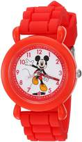Disney Boy's 'Mickey Mouse' Quartz Plastic and Silicone Casual Watch, Color: (Model: WDS000142)