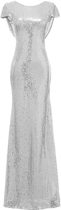 Solovedress Women's Mermaid Sequined Long Evening Dress Formal Prom Sequin Bridesmaid Dresses (UK 16