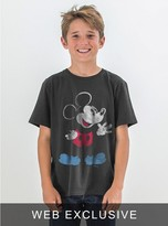Junk Food Clothing Kids Boys Mickey Mouse Tee-black Wash-xs
