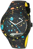Puma Unisex PU103211021 Form XL Analog Display Quartz Black Watch