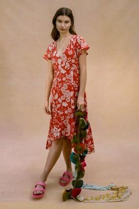 Urban Outfitters Daphne Wrap Midi Dress